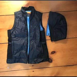 Down Vest with Detachable Hood